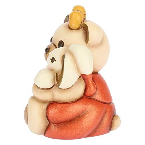 THUN - Soprammobile Teddy Bimba con Coniglietto - Bomboniera - Cameretta Bambini - Linea I Classici - Formato Piccolo - Ceramica - 5,7 h cm