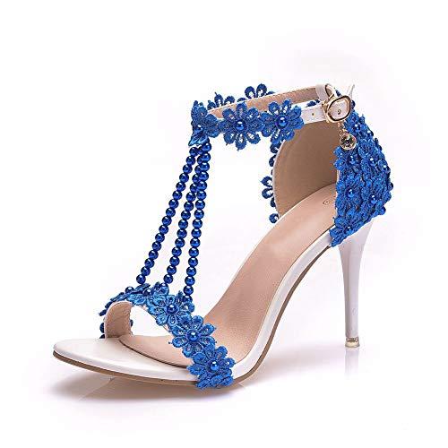 AORISSE Zapatos De Novia para Mujer, Hebilla De Palabra De 9 Cm...