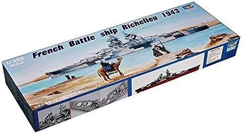 Sin impuestos 1 1 1 350 French Battleship   Richelieu   TSM5311 by Trumpeter  edición limitada