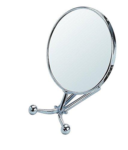 Gerson Miroir Chromé Grossissant x 10 cm à Poser/Face à Main Diamètre 15 cm