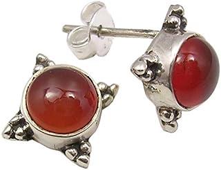 Carnelian Gemstone American Seller RE-585 Free Shipping 925 Sterling Silver Earrings Natural Carnelian Earrings