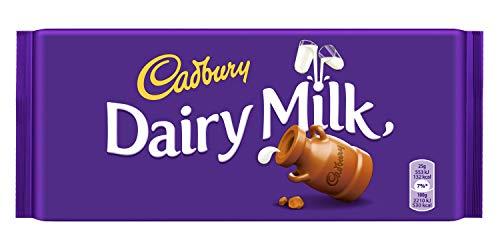 Cadbury Dairy Milk Schokolade 17 x 200 g – köstlich cremige Milchschokolade aus Großbritannien – einmalig leckere Süßigkeit mit vollmundigem Geschmack – Vollmilch