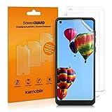 kwmobile 3x pellicola salvaschermo compatibile con Samsung Galaxy A21s - Film protettivo proteggi telefono - protezione antigraffio display smartphone