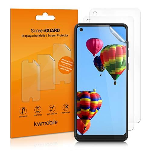 kwmobile 3X Folie kompatibel mit Samsung Galaxy A21s - klare Displayschutzfolie Displayschutz transparent Displayfolie Schutzfolie