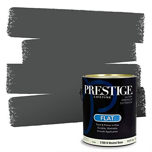 PRESTIGE Exterior Paint and Primer in One, Chalkboard, Flat, 1 Gallon