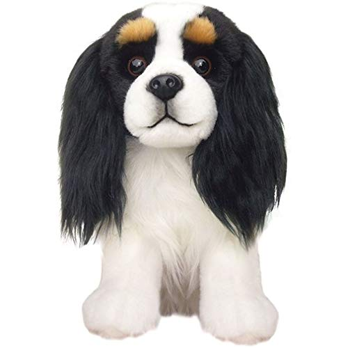 Plush Dog Cavalier Tricolour - Soft Cute Plush Toy- Tricolor- Collectible Animal- Stuffed Dog