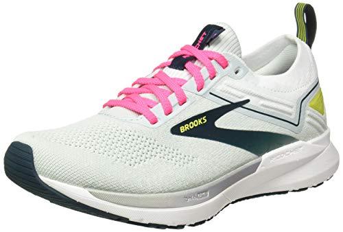 Brooks Ricochet 3 Women's Neutral Running Shoe - Ice Flow/Pink/Pond - 10