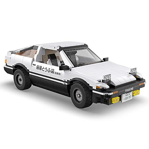 FOOMO CADA C61024w Toyota AE86 Building Block Sports Car, 1324PSC Initial D Technology Series Car Model Toy, Compatible with Lego Technology (Classic Version)