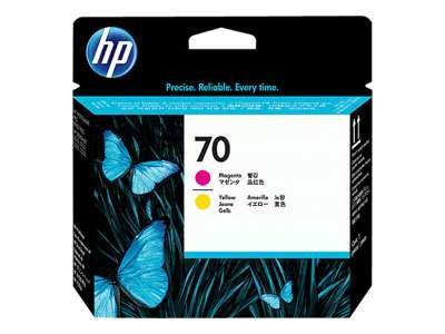 Hewlett Packard–HP 70–Gelb, Magenta–Druckkopf–für DesignJet Z2100, Z3100, Z3200, Z5200, Z5400; Photosmart Pro B8850, Pro B9180