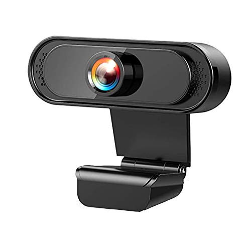 iAmotus Webcam 1080P Full HD con Microfono con Riduzione del Rumore Webcam Plug & Play USB per PC Desktop o Laptop, Video Chat, Conferenza, Registrazione, Facebook, Youtube, Windows, Android