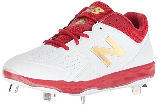 New Balance Women's Fresh Foam Velo V1 Metal Softball Shoe, Red/White, 7 M US