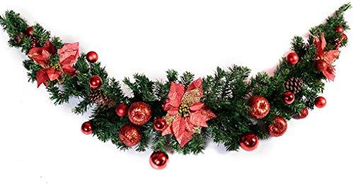 Vite per Albero di Natale, Appendiabiti da Parete crittografato Appendiabiti Negozio Layout Scena Ghirlanda Ghirlanda Decorazioni Natalizie 1,5 M / 4,9 F