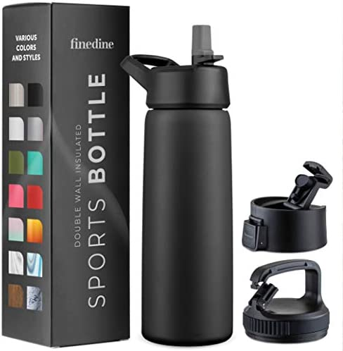 Triple Insulated Stainless Steel Water Bottle with Straw Lid Flip Top Lid Wide Mouth Cap 26 product image