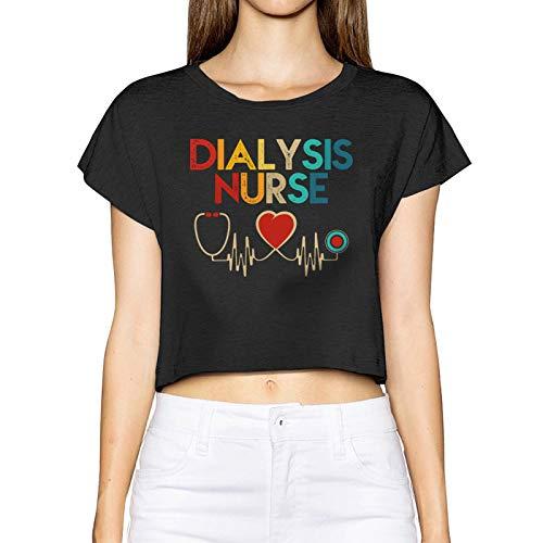 AUDNEDB Dialysis - Camiseta de manga corta para mujer