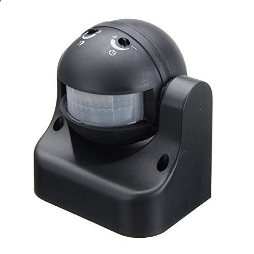 Sensor Interruptor infrarrojo del Cuerpo AC110V-240V al Aire Libre Humano del Sensor Detector de Movimiento Negro Sensores para el hogar, reactores, prensas hidráulicas, COC