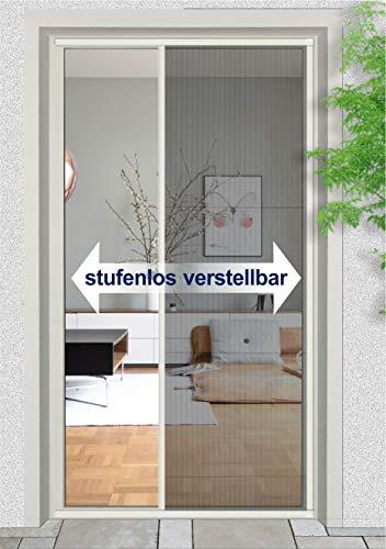 Fliegengitter Insektenschutz Mückenschutz Plisseetür Tür Plissee 120 x 230 cm weiß