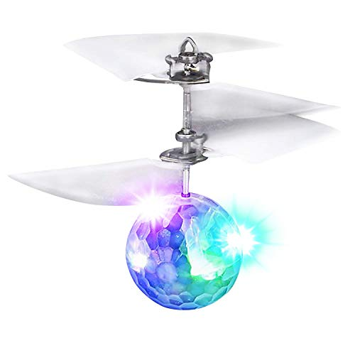 ArtCreativity Mini R/C Crystal Orb Flyer, Rechargeable Hand Operated Flying Ball Toy Drone for Kids with Spectacular Flashing LEDs & Motion Sensors, Best Holiday & Birthday Gift for Boys & Girls 8+
