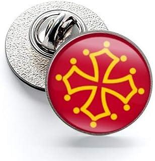 Pin de Solapa Magglass Banderas Regiones Francia Languedoc   Pines Originales Para Regalar   Para las Camisas, la Ropa o p...
