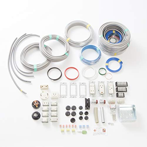 第二種電気工事士技能試験セット モズシリーズ プレミアム 動画解説付電線器具2の1(にのいち) 電線2回分と器具セット
