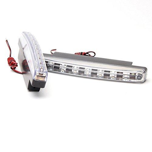 1 paire 8 LED Lumière du jour à brouillard ampoules de phare Line Conduite lumière pour voiture automobile véhicule (couleur Xenon Blanc)
