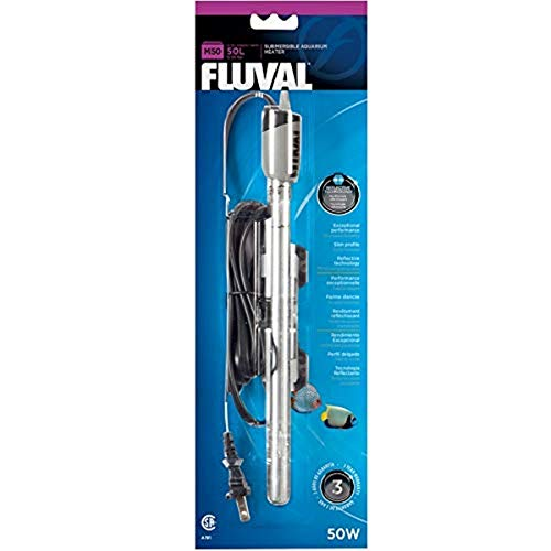 Fluval M50 Submersible Heater, 50-Watt Heater for Aquariums up to 15 Gal., A781