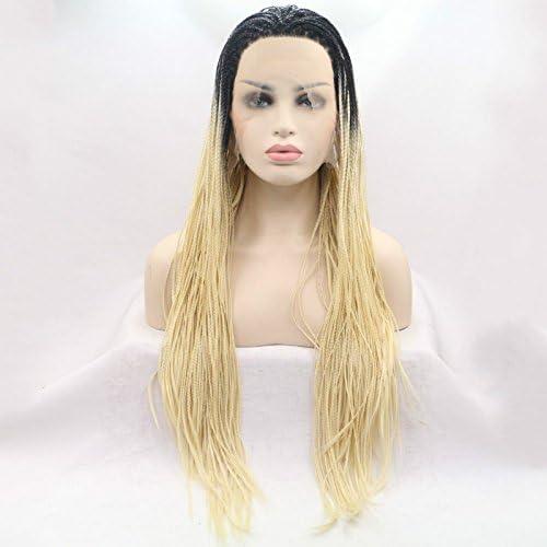 Sun Goddess  onden Zopf Spitze Vorne Perücken Synthetische Draided Perücke HitzeBeste ige Faser Haare Für Frauen, T1 B 613,26cm