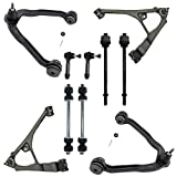 Detroit Axle - 10PC Front Upper and Lower Control Arms w/Ball Joints, Sway Bars, Inner and...