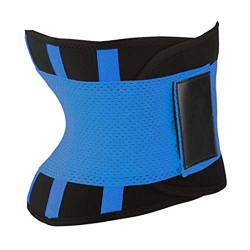 Small Oranges Women Shaper Women Waist Trainer Slimming Belt Exercise Fitness Shapewear,Blue,XL