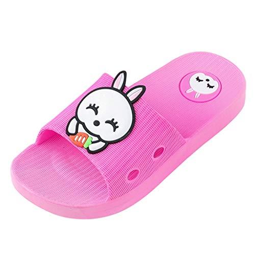 Mädchen Jungen Hausschuhe Cartoon Kaninchen Boden Badeschuhe Outdoor Sandalen