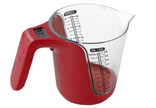 eKitch Large Digital Measuring Jug with built in kitchen scale