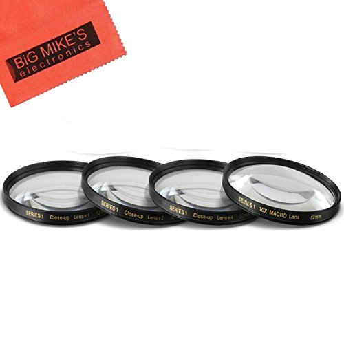52MM Close-Up Filter Set (+1, 2, 4 and +10 Diopters) Magnification Kit for Canon EF-S 24mm f/2.8 STM Lens