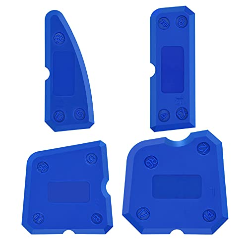 4PCS Silikonentferner Werkzeug,Silikon Abzieher Fugenwerkzeug,Dichtmittelelentferner,Fugenkratzer,Fugenglätter Schaber Entferner Werkzeug für Badezimmer Küche Badezimmer Boden Fliesen,Blau