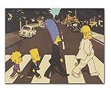 DFCYT Rompecabezas de 1000 Piezas, Anime Cartoon The Simpsons Theory Puzzle, Rompecabezas de Madera Casual para Adultos y Adolescentes Muy desafiante
