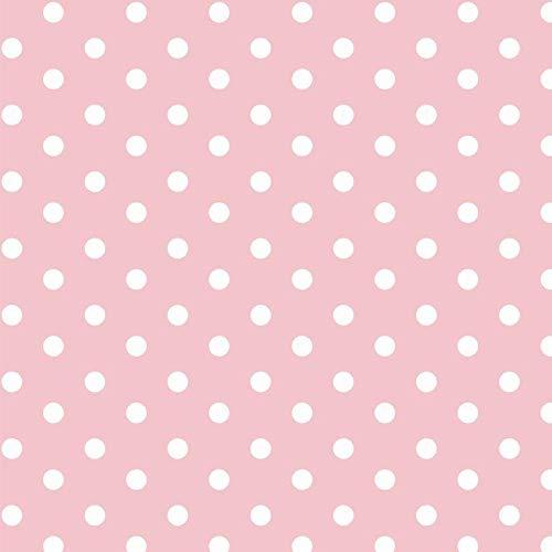 babrause® Baumwollstoff Punkte Rosa Webware Meterware Popeline OEKOTEX 150cm breit - Ab 0,5 Meter