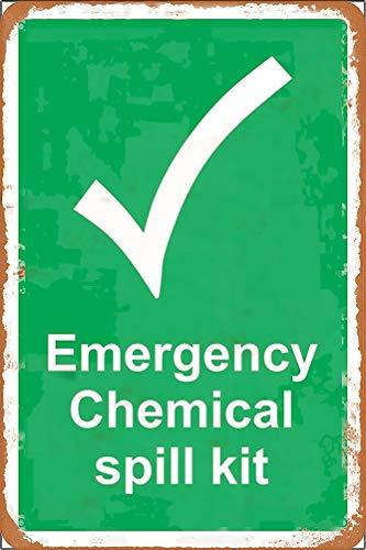 GUANGZHOU Kit de emergencia S químico derrame retro de metal letrero de pared Fender arte de hierro pintura barra de café cena familia cartel publicitario decoración póster