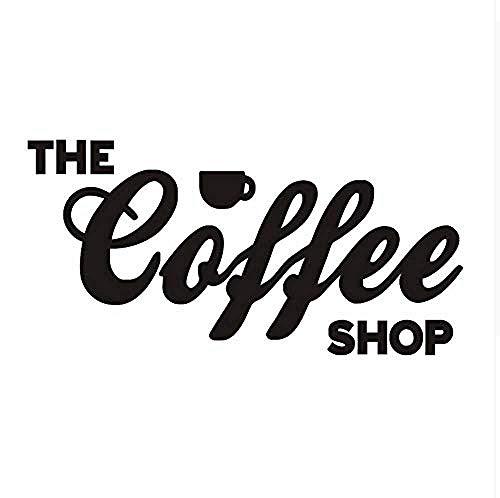 Nieuwe Ontwerp Engels Woorden Koffie Muur Sticker Keuken PVC Muur Art Decor voor Woonkamer Café Muurstickers Behang 87X43Cm