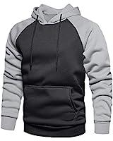 LBL Men's Casual Pullover Hoodies Long Sleeve Hooded Sweatshirts Dark Gray M #39