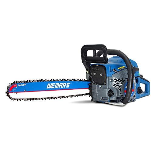 WEMARS Gas Chainsaw 52cc 18 Inch Power Chain Saw 2-Cycle Handed Petrol...