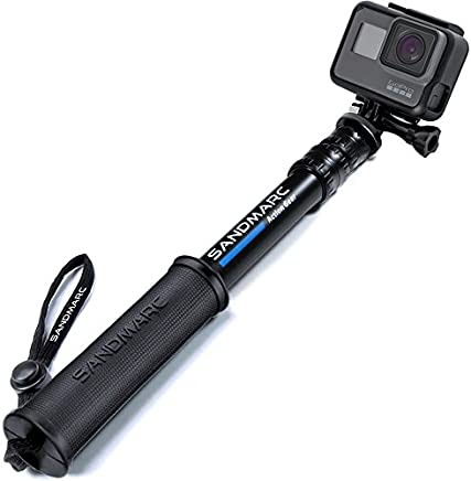 "SANDMARC Pole - Compact Edition: 10-25"" Waterproof Pole (Selfie Stick) for GoPro Hero 7, Hero 6, Hero 5, Hero 4, Fusion, Hero 5 Session, Hero 3+, 3, 2 & HD Cameras - Telescoping and Portable Extension"