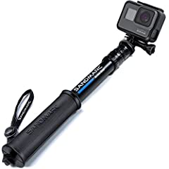 "PORTABLE TELESCOPING LENGTH - Extending from 10"" to 25"" and weighing just 7 Ozs, it is the most compact yet most durable pole in the market DESIGNED IN CALIFORNIA - SANDMARC Pole Compact Edition is designed to fit all GoPro Hero Cameras including HER..."