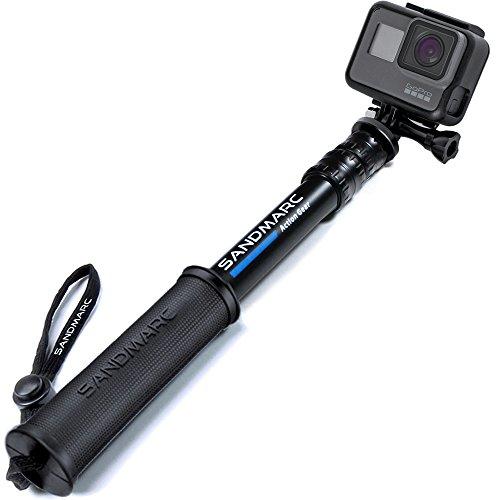 SANDMARC Pole - Compact Edition: 25-64 cm Selfie Stick für GoPro Hero 8, Max, 7, Osmo Action, Hero 6, Hero 5, 4, Session, 3+, 3, 2, HD Kameras - Teleskopstange Wasserdicht