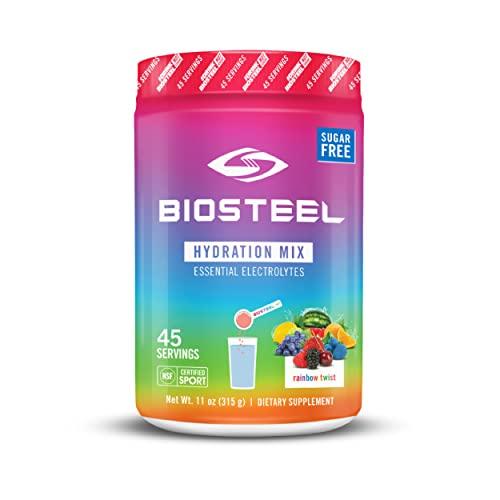 BioSteel Hydration Mix, Sugar-Free with Essential Electrolytes, Rainbow Twist, 45 Servings