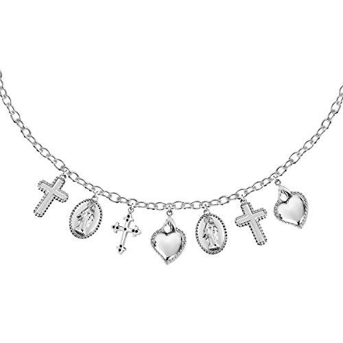 Morellato Collana da donna, Collezione Devotion, in acciaio, cristalli - SARJ02