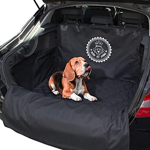 HUND IST KÖNIG® Kofferraumschutz Hund - Universelle Kofferraum Schutzmatte für optimalen Schutz - rutschfeste Autoschondecke mit Ladekantenschutz - Wasserdicht, schmutzresistent, leicht zu reinigen