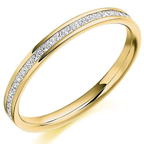 18ct Gold Princess-Cut Diamond Eternity Ring (L) HET2109 18Y L