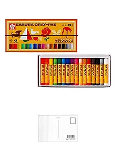 サクラクレパス クレパス 16色 ゴムバンド付き LP16R + 画材屋ドットコム ポストカードA