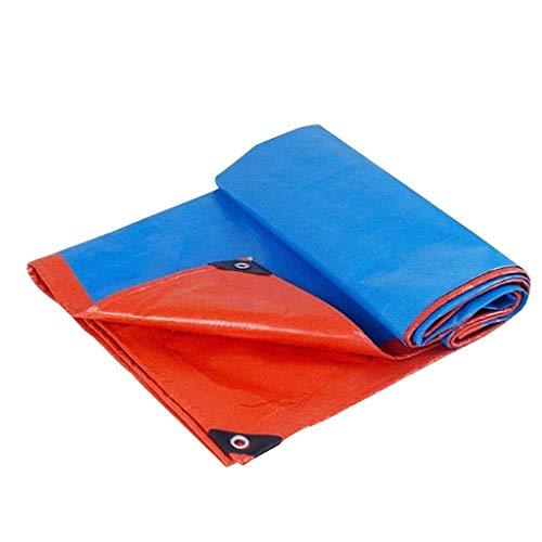 YLCJ Zonwering zonnebrandcrème Dikke doek Auto doek Elektrische driewieler Cover Doek Dubbele zeildoek (Afmetingen: 6x8m) 5x6m
