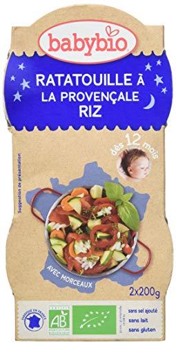 Babybio Bols Ratatouille à la Provençale/Riz 2x200 g