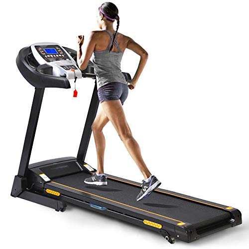 CAROMA Treadmill for Home, Folding Treadmill with APP Control and Heart Sensor, Incline Fitness, Portable 2.25HP Running Jogging Walking Machine for Home, Office, Gym Use