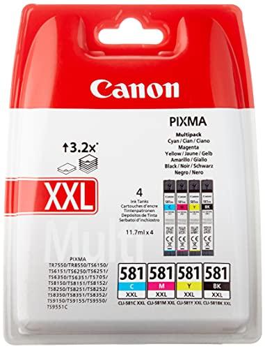 Canon CLI-581XXL Multipack 11.7ml 11.7ml Nero, Ciano, Magenta, Giallo cartuccia d'inchiostro